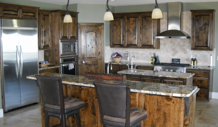 cabinets brown